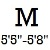 M (5ft5inch -5ft8inch  Altura)