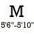 M RHT (5ft6inch -5ft10inch  Altura)