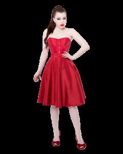 Vestido de Corsé Rojo Tafetán
