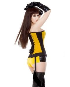 Falda de Círculo Negra Tafetta