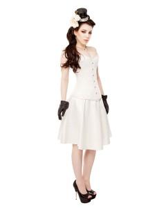 Vestido de Corsé de Satén de Duquesa De marfil