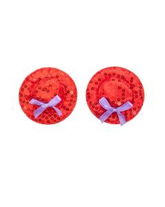Engrasador de Sombrero de copa Rojo Pasties
