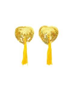 Oro Sequin Engrasador Adorna con borlas