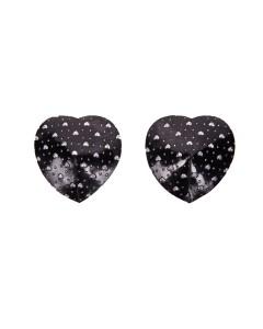 Corazón de Piedra falsa Engrasador Negro Pasties