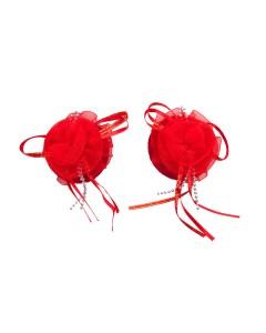 Engrasador de Flor Rojo Organza Pastie