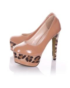 Zapatos Bronceados con una Impresión Única De animal