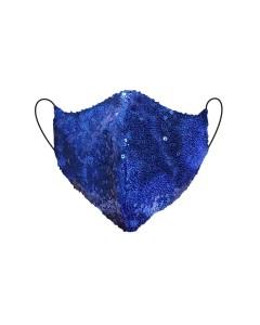 Mascarilla con lentejuelas azules